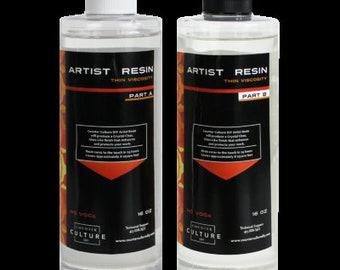 Artist Resin Original (Thin Viscosity ) Epoxy 32 oz Kit