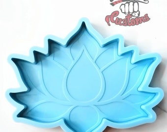 LOTUS FLOWER COASTER mold 5.5in x 6.5in    1 Silicone mold