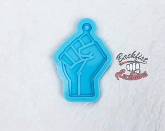 FIST Keychain 1.27in x 3in mold || 1 Silicone mold