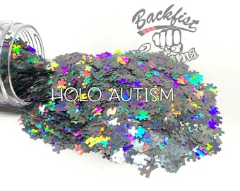 HOLO AUTISM || Autism Inspired  Puzzle Shaped Glitter