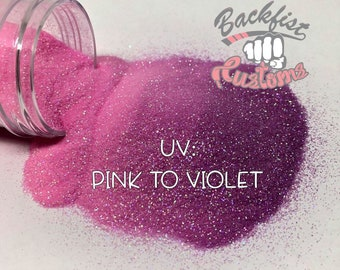 UV PINK to VIOLET || Solar Activated Glitter changes from Pink to Violet