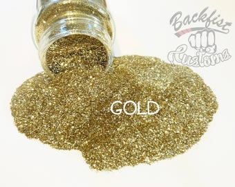 GOLD || Opaque Fine Glitter, Solvent Resistant
