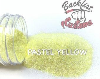 PASTEL YELLOW ||  Fine Glitter, Solvent Resistant