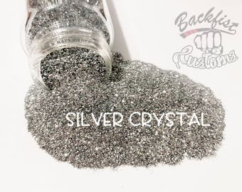 SILVER CRYSTAL  || Opaque Fine Glitter, Solvent Resistant