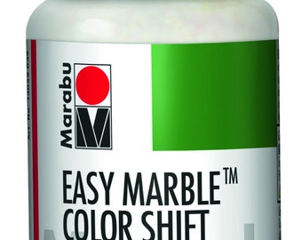 730 Metallic Teal Silver-Red || MARABU Easy MARBLE PAINT