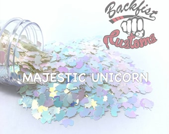 MAJESTIC UNICORN || Unicorn Head Shaped Chunky Glitter, Solvent Resistant