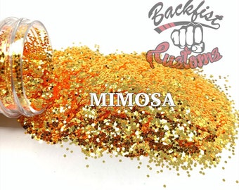 MIMOSA || Color Shifting orange Super Chunky Glitter