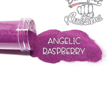ANGELIC RASPBERRY || Holographic Micro Fine Glitter, Solvent Resistant