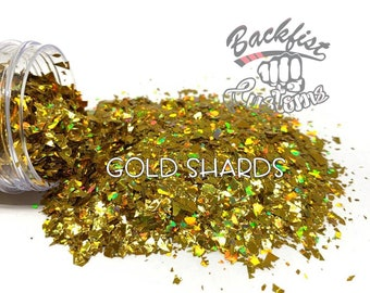 GOLD SHARDS  || Chunky Mix Holographic Broken Shards of Glitter