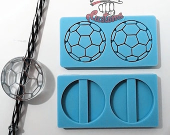 Halves     SOCCER BALL Straw Topper    Silicone mold