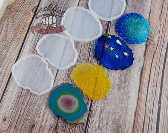4 Pack GEODE mold Set || 4 Silicone molds total