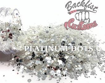 PLATINUM DOTS ||  Mixed Dot Shaped Glitter Sizes , Diamond Dust Replacement