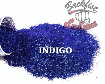INDIGO    Opaque Color Shifting Glitter, Blue and Purple