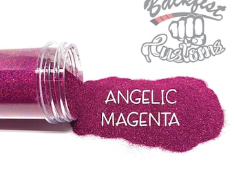 ANGELIC MAGENTA || Holographic Micro Fine Glitter, Solvent Resistant
