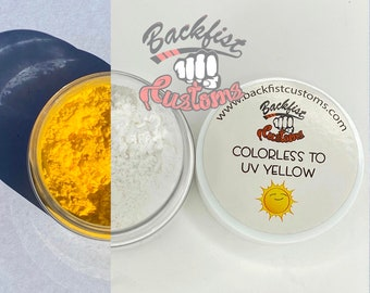 UV Pigment COLORLESS to YELLOW    10g jar