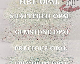 OPAL PACK || 5 different 1oz Opal Transparent Glitters Solvent Resistant