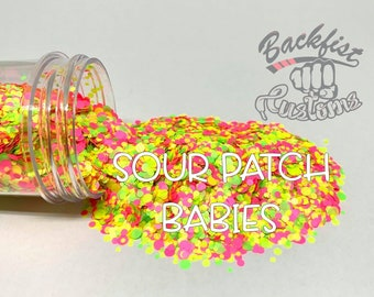 SOUR PATCH DOTS || Multi Shaped  Glitter Dots