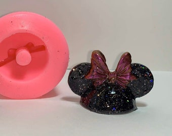 Mrs Mouse Head 2.0  STRAW TOPPER Silicone mold    *newest* Designed to slide onto your straw for an exciting look