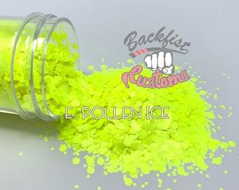 E. POLLEN ICE    Neon, Matte Fine Glitter