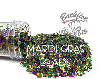 MARDI GRAS BEADS || Multi Shaped Dot Mix