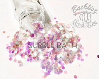 BUBBLE BATH || Transparent Chunky Glitter