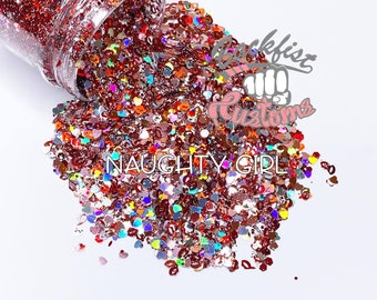 Naughty Girl 2oz  || Mixed Glitter of different colors and sizes