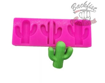 CACTUS Straw Topper  || Silicone mold