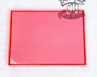 SMALL PINK ROLLING Tray mold 8in x 6in    1 Silicone mold