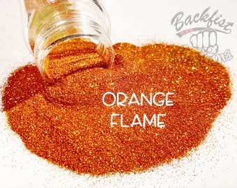 ORANGE FLAME || Opaque Fine Glitter, Solvent Resistant