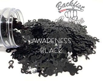 AWARENESS BLACK || BFC Exclusive Ribbon Shaped Glitter