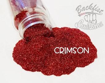 CRIMSON || Opaque Micro Fine Glitter, Solvent Resistant
