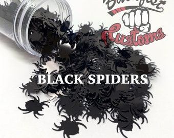 BLACK SPIDERS || Spider Shaped Glitter