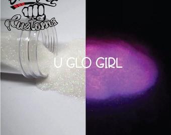 U GLO GIRL || Phosphorescent Glitter, Hot Pink Glow in the Dark
