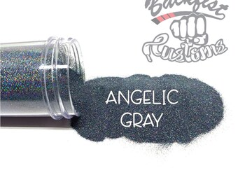 ANGELIC GRAY || Holographic Micro Fine Glitter, Solvent Resistant