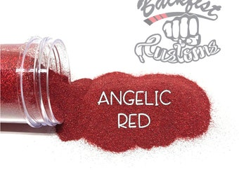 ANGELIC RED || Holographic Micro Fine Glitter, Solvent Resistant
