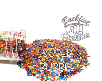 SUPER BUBBLE DOTS || Multi Shaped red, blue, ans yellow Glitter dots