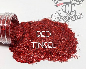 RED TINSEL || Tinsel Glitter, Solvent Resistant