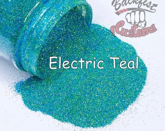 Electric Teal || 1/128 Glitter, Solvent Resistant