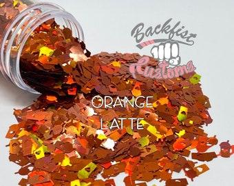 ORANGE LATTE || Coffee Cup Shaped Glitter