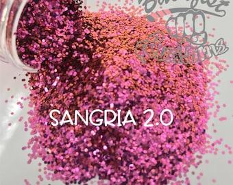 SANGRIA 2.0 ( maroon/orange )  || Solvent Resistant, Chunky Chameleon Glitter