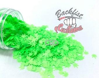 CBD     BFC Exclusive Marijuana Shaped Glitter