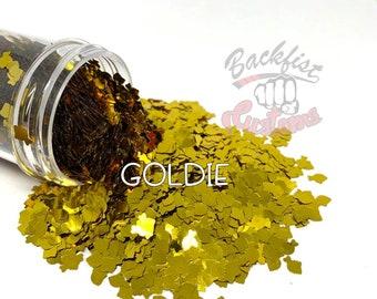 GOLDIE     Goldfish shaped  Glitter