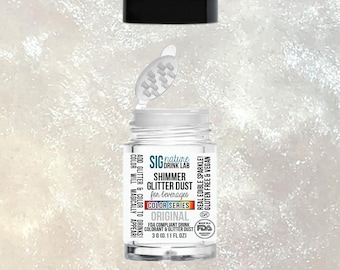 Silver Pearl BEVERAGE GLITTER DUST 3g || Edible Glitter for Drinks || Vegan and Gluten Free