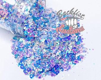 Opal-licious 2oz  || Mixed Glitter of different colors and sizes