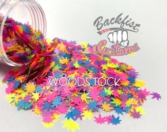 WOODSTOCK    BFC Exclusive Marijuana Shaped Glitter