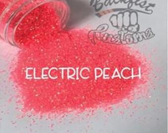 ELECTRIC PEACH    Neon, Transparent Fine Glitter, Solvent Resistant