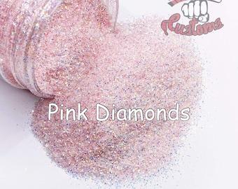 Pink Diamonds || 1/128 Glitter, Solvent Resistant
