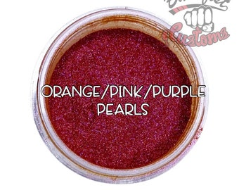 Orange/Pink/Purple Pearls Mica Powder  || 5 gram by weight