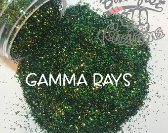 GAMMA RAYS ( Green )  || Solvent Resistant, Color Shift Glitter
