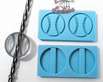 Halves ||  BASEBALL SOFTBALL Straw Topper || Silicone mold